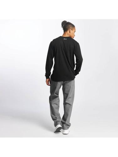 Pelle Pelle Hombres Camiseta de manga larga Mini Logo in negro
