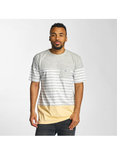 Pelle Pelle Hombres Camiseta Colorblock Pocket in gris