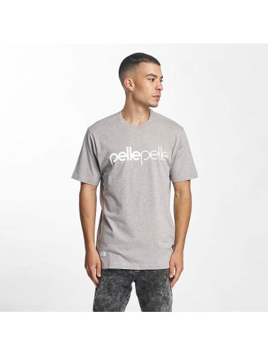 Pelle Pelle Hombres Camiseta Back 2 Basics in gris