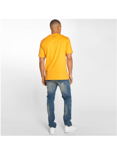 Pelle Pelle Hombres Camiseta Camo Icon in naranja