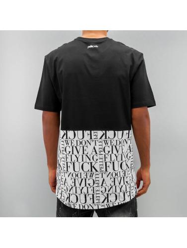 Pelle Pelle Hombres Camiseta Half in negro