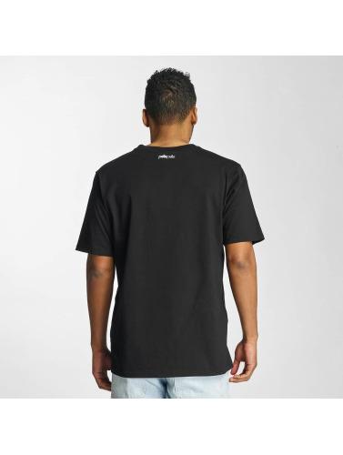 Pelle Pelle Hombres Camiseta Sayagata Icon in negro