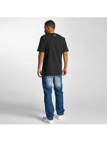 Pelle Pelle Hombres Camiseta Stick Up Icon in negro