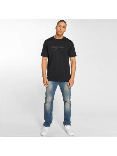 Pelle Pelle Hombres Camiseta Signature in negro