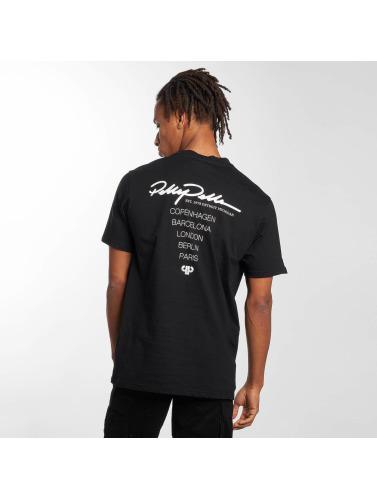 Pelle Pelle Hombres Camiseta Signature City Tour in negro