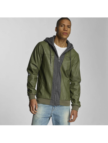 Pelle Pelle Hombres Chaqueta de entretiempo Mix-Up Padded in verde