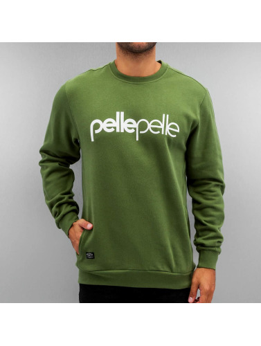 Pelle Pelle Herren Pullover Back 2 The Basics in grün