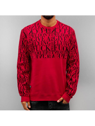 Pelle Pelle Herren Pullover We Don't Give A * in rot
