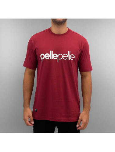 Pelle Pelle Herren T-Shirt Back 2 The Basics in rot