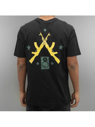 Pelle Pelle Herren T-Shirt Mash Up in schwarz