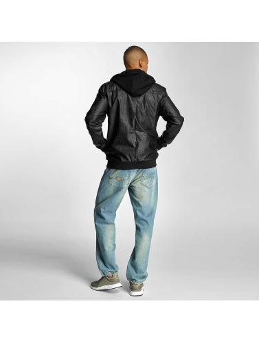 Pelle Pelle Herren Übergangsjacke Mix-Up Padded Hooded in schwarz