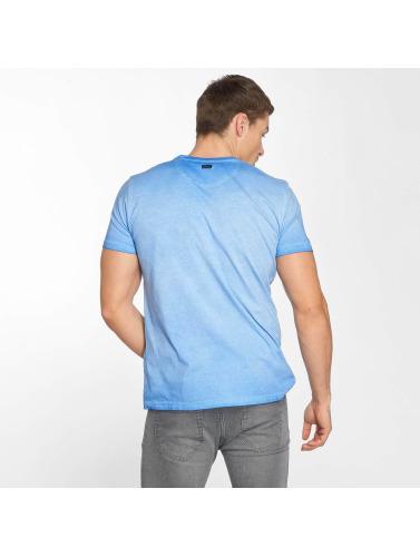Petrol Industries Hombres Camiseta Pocket in azul