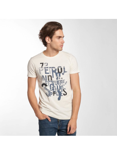 Petrol Industries Hombres Camiseta Dave in blanco