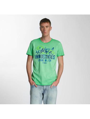 Petrol Industries Hombres Camiseta Crude Oil in verde