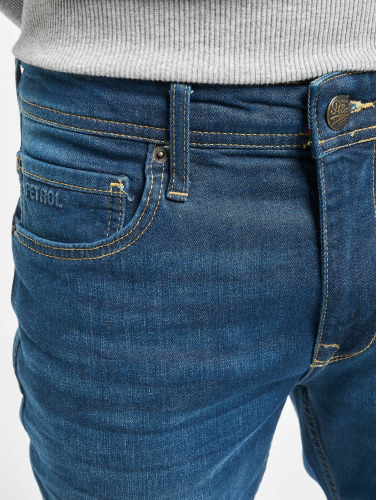 Petrol Industries Herren Straight Fit Jeans Thruxton in blau