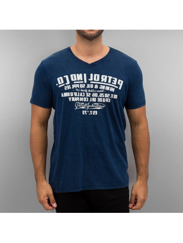 Hommes De Pétrole Industries T-shirt Miroir En Bleu