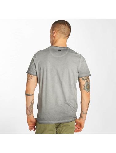 Petrol Industries Herren T-Shirt Pocket in grau