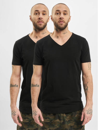 Industries Pétrolières Herren T-shirt Bodyfit Basic 2 Pack À Schwarz