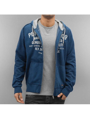 Petrol Industries Herren Zip Hoodie Hoody in indigo