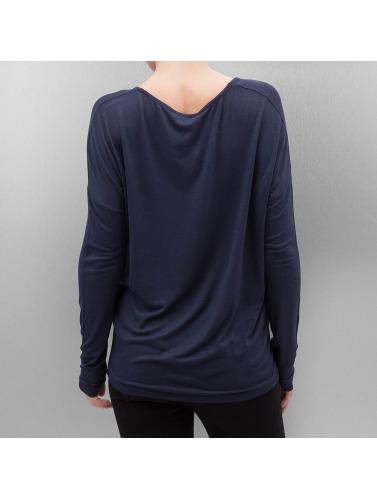 Pieces Mujeres Camiseta de manga larga pcMusthave in azul