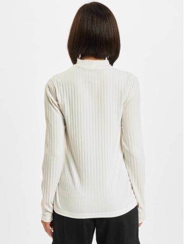 Pieces Mujeres Camiseta de manga larga pcAmy in blanco