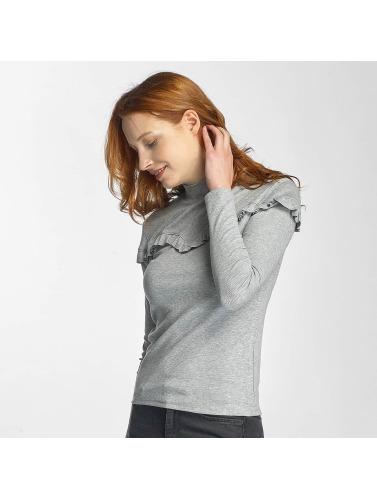 Pieces Mujeres Camiseta de manga larga pcMaldi in gris