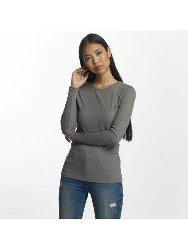 Pieces Mujeres Camiseta de manga larga pcGanie in gris