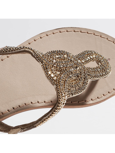 Pieces Mujeres Chanclas / Sandalias PSCarmen Leather in beis