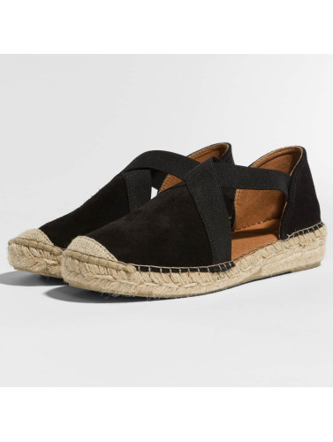 Pieces Mujeres Chanclas / Sandalias psLyna Suede in negro