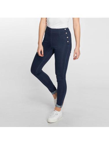 Pieces Mujeres Jeans de cintura alta pcSkin in azul