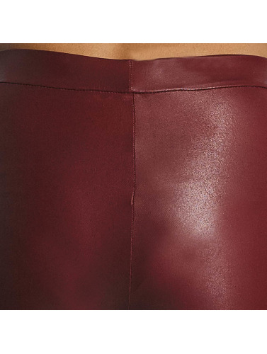 Pieces Mujeres Legging/Tregging pcPetra Shiny in rojo