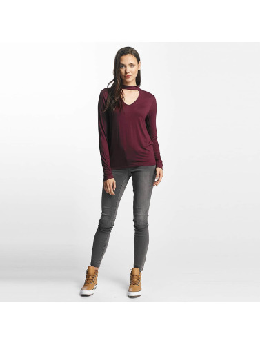 Pieces Damen Longsleeve pcRanete in rot