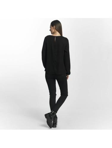 Pieces Damen Longsleeve pcMacy in schwarz