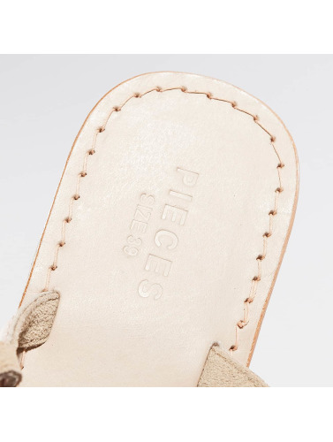 Pieces Damen Sandalen PSCarmen Leather in beige