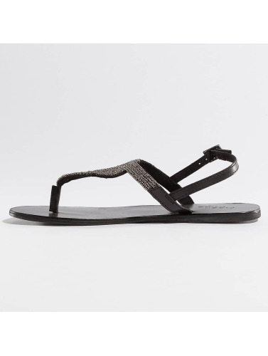 Pieces Damen Sandalen PSCarmen Leather in schwarz
