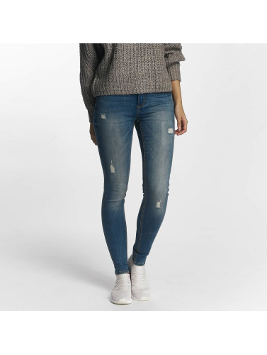 Pieces Damen Skinny Jeans pcFive Delly in blau