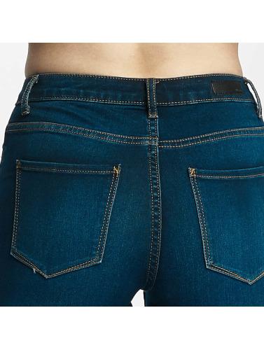 Pieces Damen Skinny Jeans pcFive Bettysoft Mid Waist in blau