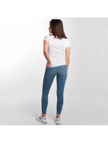 Pieces Damen Skinny Jeans pcFive Delly in blau