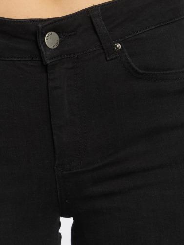 Pieces Damen Skinny Jeans PCFive Delly in schwarz