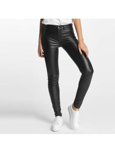 Pieces Damen Skinny Jeans pcSkin Betty Coated in schwarz