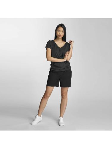 Pieces Damen T-Shirt pcSiw V-Neck in schwarz