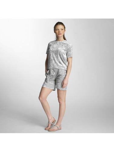 Pieces Damen T-Shirt pcEdith in silberfarben