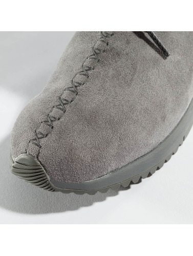 Project Delray Damen Boots Wavy Lux High in grau