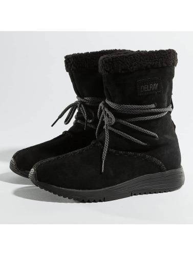Project Delray Damen Boots Wavy Lux High in schwarz