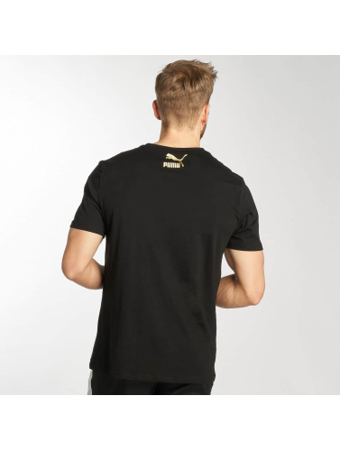 Puma Herren T-Shirt Suede in schwarz