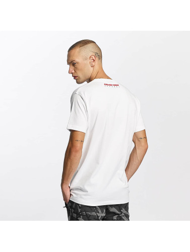 Pusher Apparel Herren T-Shirt Destroyed in weiß