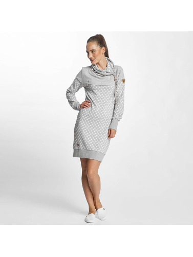 Ragwear Damen Kleid Chloe in grau