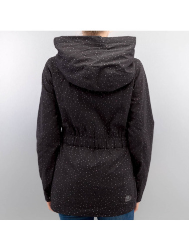 Ragwear Damen Übergangsjacke Paulina Dots in schwarz