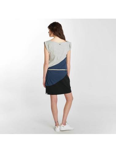 Ragwear Mujeres Vestido Tag Block A Organic in azul