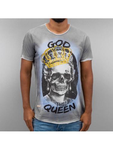 Red Bridge Hombres Camiseta God Save The Queen in índigo
